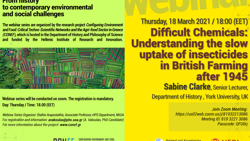 """Difficult Chemicals: Understanding the slow uptake of insecticides in British Farming after 1945"" Webinar"