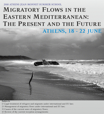 2018 Jean Monnet Summer School on Migratory Flows